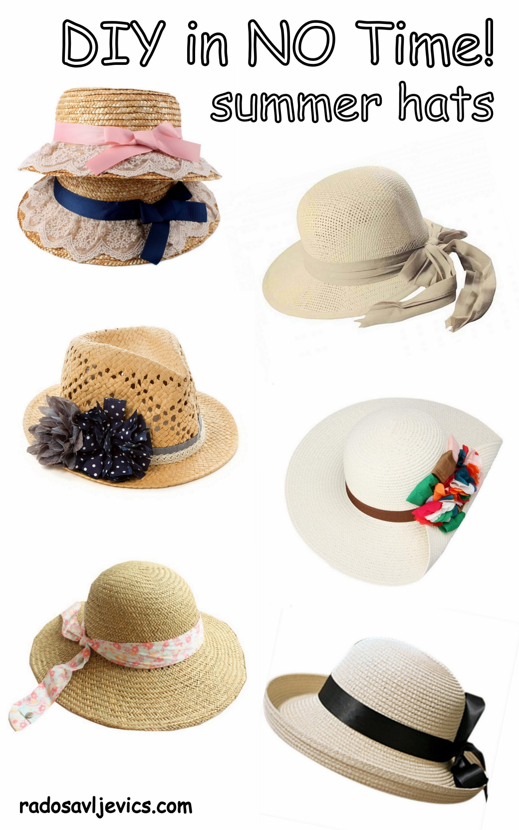DIY summer hats forgirls