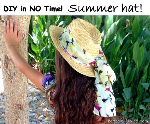 DIY summer hat